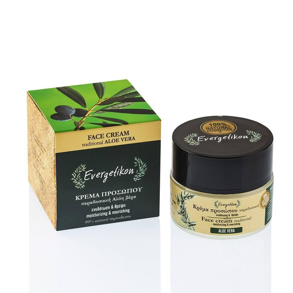 Evergetikon Κρέμα προσώπου παραδοσιακή Αλόη βέρα Ενυδάτωση & θρέψη Evergetikon