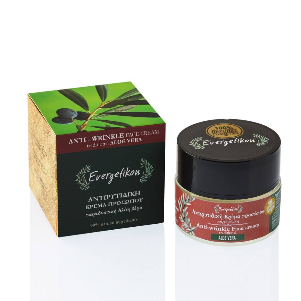 Evergetikon Αντιρυτιδική Κρέμα προσώπου παραδοσιακή Αλόη βέρα Evergetikon