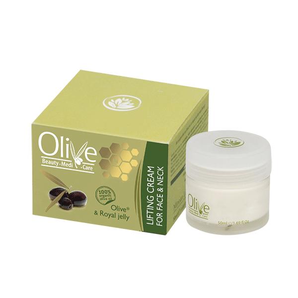 Olive Beauty Medicare Συσφικτική Κρέμα Για Πρόσωπο & Λαιμό με Ελιά & Βασιλικός Πολτός 50ml Olive Beauty MediCare