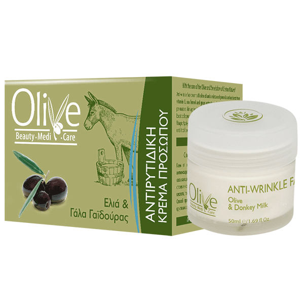 Olive Beauty Medicare Αντιρυτιδική Κρέμα Προσώπου Με Ελιά & Γάλα Γαϊδούρας 50ml Olive Beauty MediCare