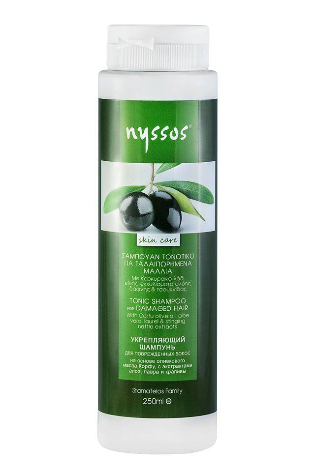 Nyssos Σαμπουάν Τονωτικό για Ταλαιπωρημένα Μαλλιά 250ml Nyssos
