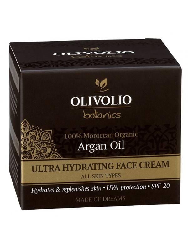 OLIVOLIO Ενυδατική κρέμα προσώπου με λάδι Αργκάν 50 ml Olivolio