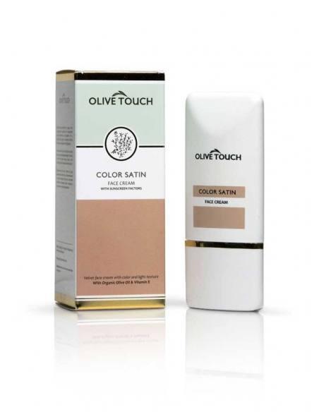 Olive Touch Αντηλιακή Κρέμα Προσώπου spf 30 με Χρώμα  50ml