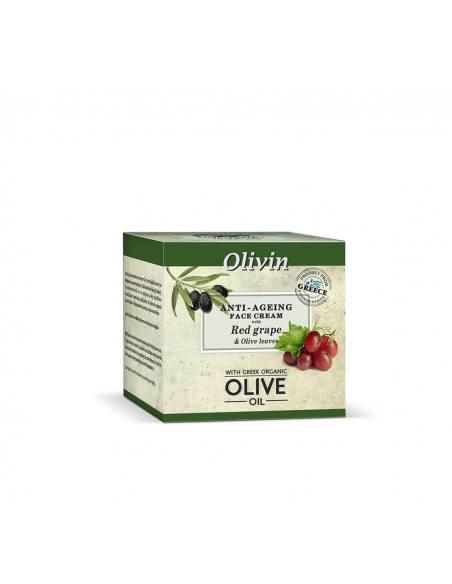 Olivin Αντιγηραντική Κρέμα Προσώπου με κόκκινο σταφύλι και φύλλα ελιάς 50ml