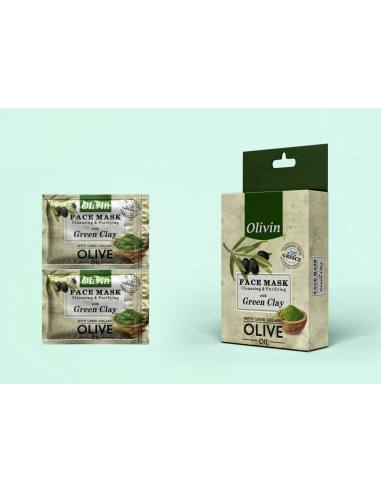 Olivin Mάσκα με Πράσινο Άργυλο 2x5ml
